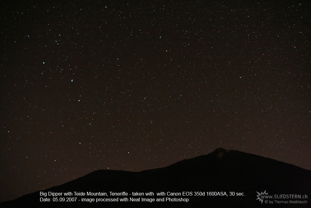 2007-09-05 - Big Dipper with Teide Mountain, Teneriffe